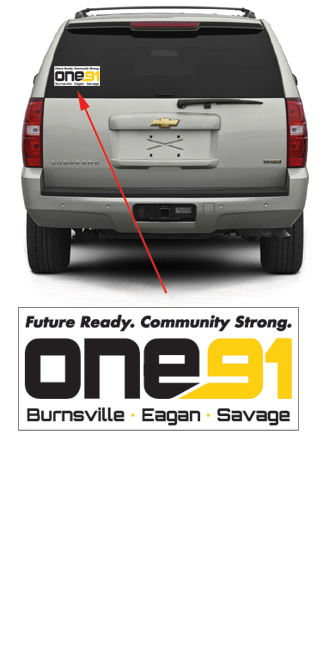 One 91 Car Decal