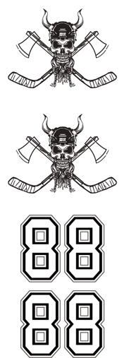 WH Skull Hockey