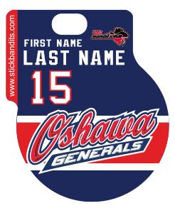 Oshawa Generals Blue Helmet