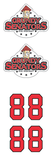Grundy Senators White Hockey