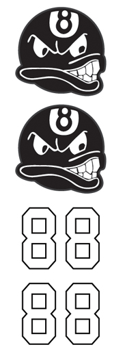8 Ball with Face